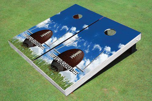 Field Goal Themed Cornhole Board Set