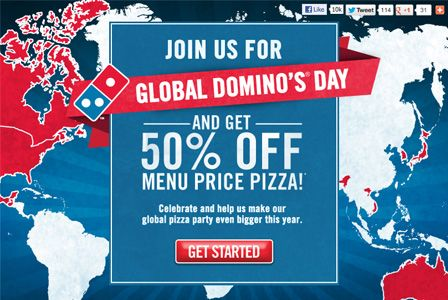 Domino's pizza promo! Global Domino's Day offers up pizza at deep discounts