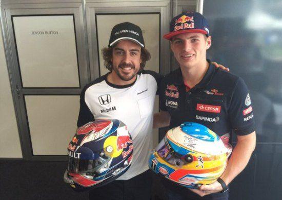 Max Verstappen & Alonso 2015