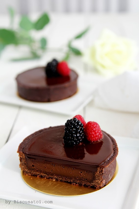 Bisous À Toi: Aria Chocolate Tart. It is in English. If you click the link to masterchef, there is a conversion chart for measurements.