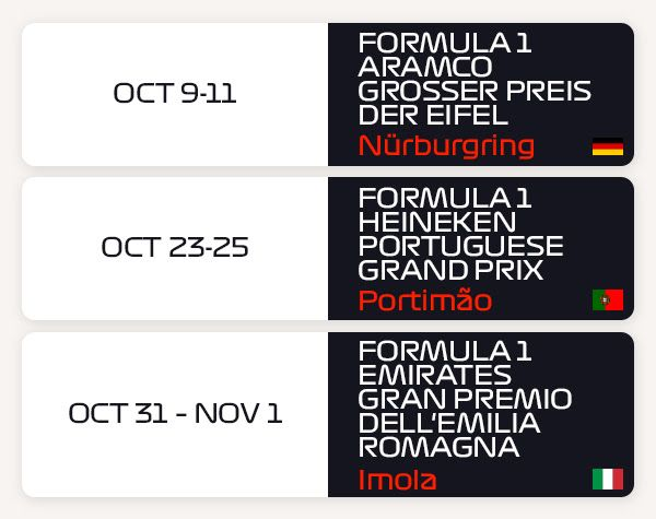 More Formula 1 Races Added To The 2020 Calender Formula 1 Formula Racing Racing