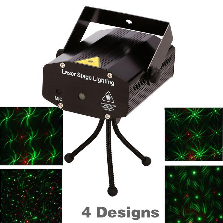 소매 판매 150 백만와트 4in1 미니 레이저 무대 조명 효과 레이저 프로젝터 파티 dj 디스코 빛 110-240 볼트 삼각대