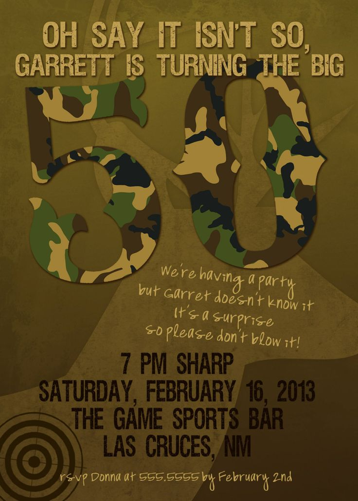 free printable camouflage birthday party invitations%0A   th Birthday Party Invitations For Men