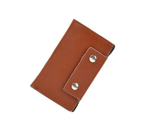 Brown Colour PU Keyholder with Double Magnet Detail
