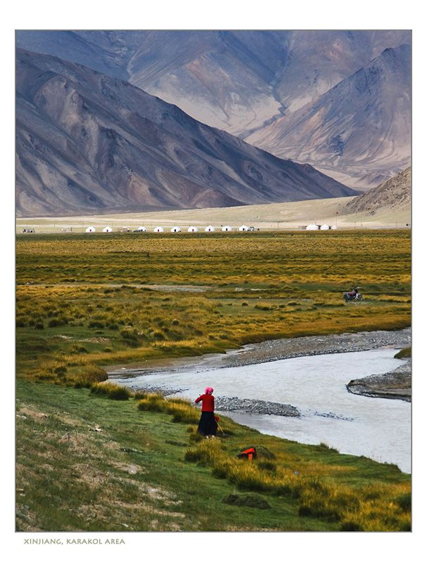 ...at #Karakul Lake in the Xinjiang Uyghur Autonomous Region of China  In OMAW, the Western Hills separate the Ring, where Wen lives, from Yilat province, where Melik and his people are from. Images like these inspired the geography.