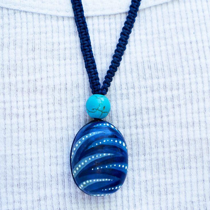 Hand painted pebble pendants! by Votsaloartstudio on Etsy