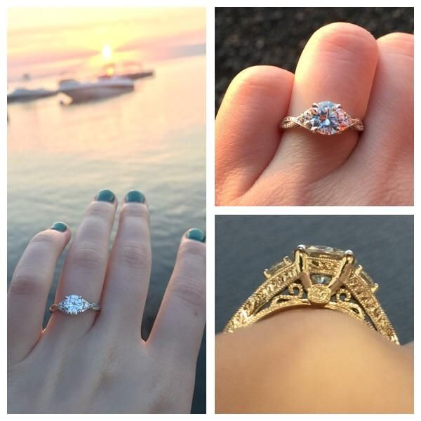 Boyfriend of 5 years proposed this morning during a Tahoe sun rise! We were the only ones out on the beach, it was perfect! Best friend to boyfriend to fiancé, I couldn't be more happy. : JustEngaged