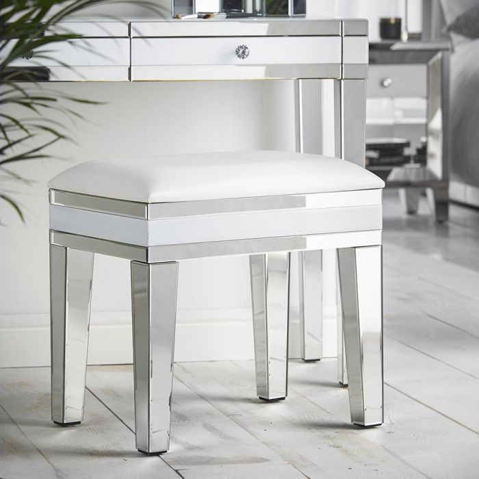 Beautify White Mirrored Dressing Table Stool Dressing Table With Stool Bedroom Desk Decor Dressing Mirror