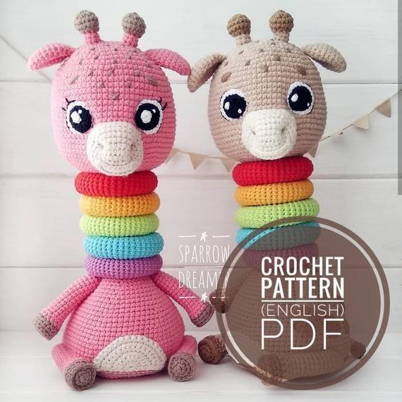 Patrón Torre Safari Amigurumi crochet tutorial juguetes para | Etsy | 570x570