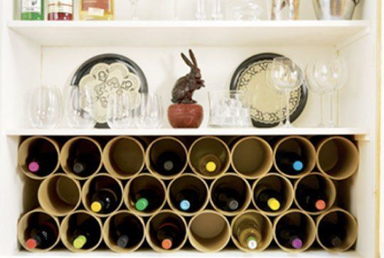 AT has featured some great wine rack roundups (here and here), so we thought we'd comb the archives for old and new ideas for the best small space solutions. Click below for wall-mounted racks, DIY ideas, built-ins, and space-savers...