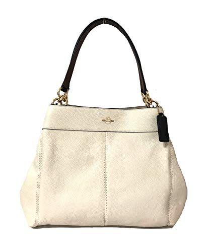 3d3edd7d5e Coach F57545 Lexy Pebble Leather Shoulder Bag (IM Chalk M...  woman  bag