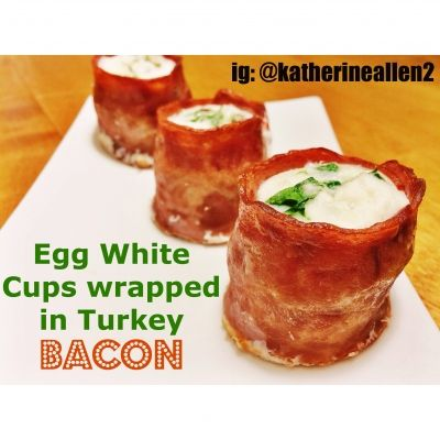 Egg White Cups Wrapped In Turkey Bacon | Just 60 calories a serving for your bacon fix! @Ripped Recipes