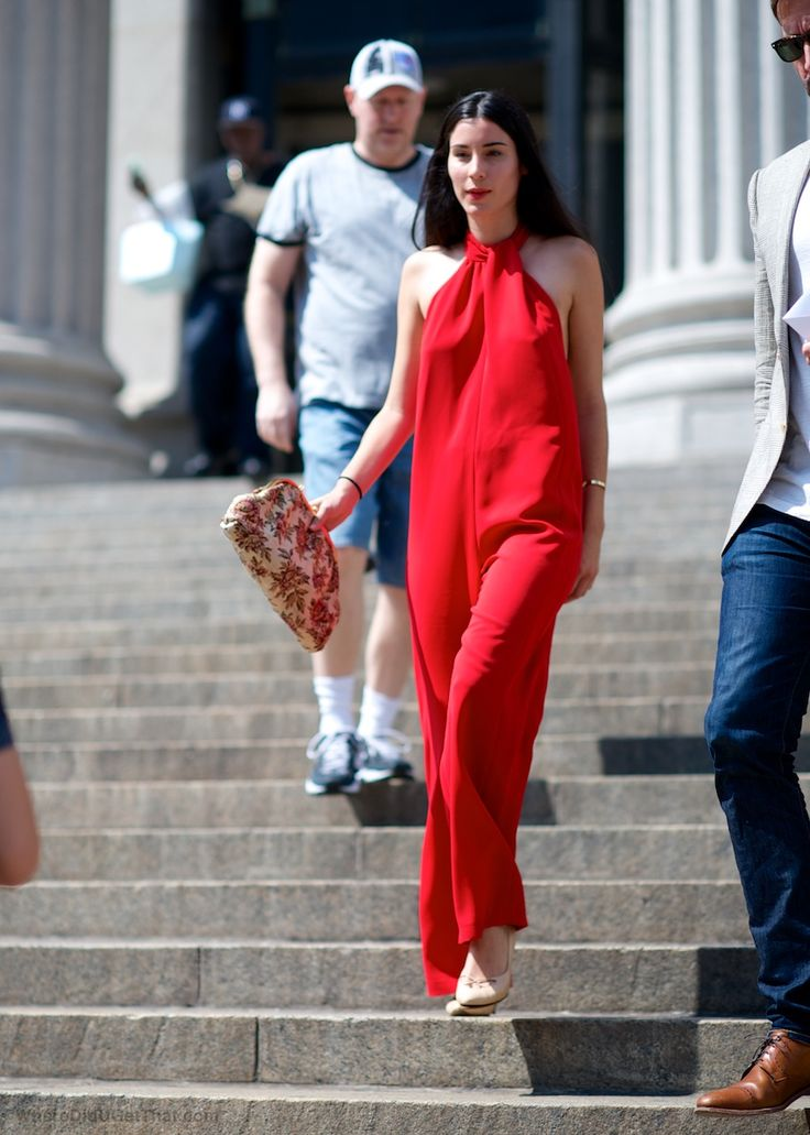 red romper. NYC. | FASHION | Pinterest | Nyc, Jumpsuits and Red ...