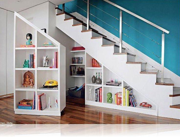 Great Under Stair Storage Shelves Design Ideas Modern Stairs Storage White Folding Shelf