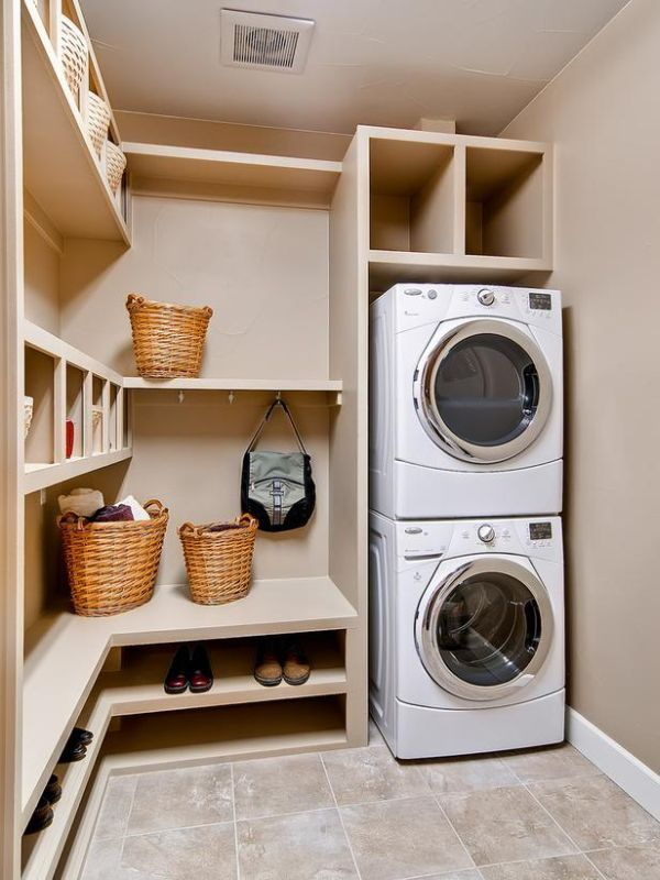 An option for the layout of the utility area? More shoe storage for hubbie!