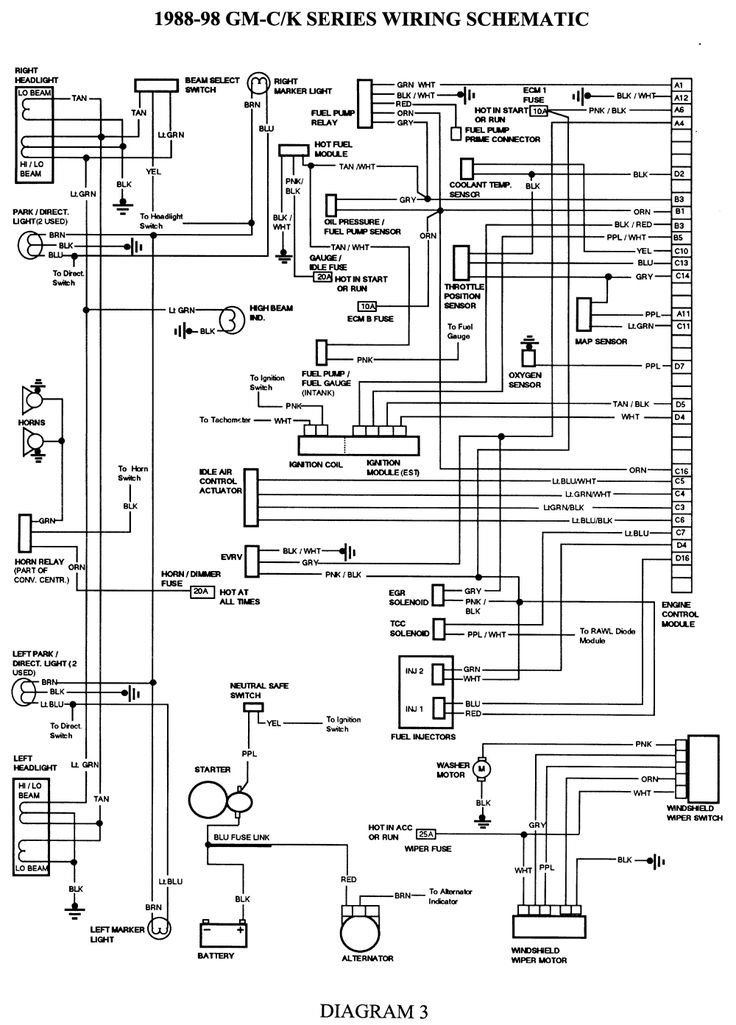 98 chevy wiring diagram. chevrolet. automotive wiring diagrams, Wiring diagram