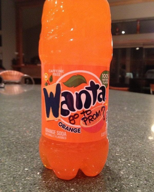 Fanta Idea for Asking Your Date to Prom. 'Wanta' go to prom?
