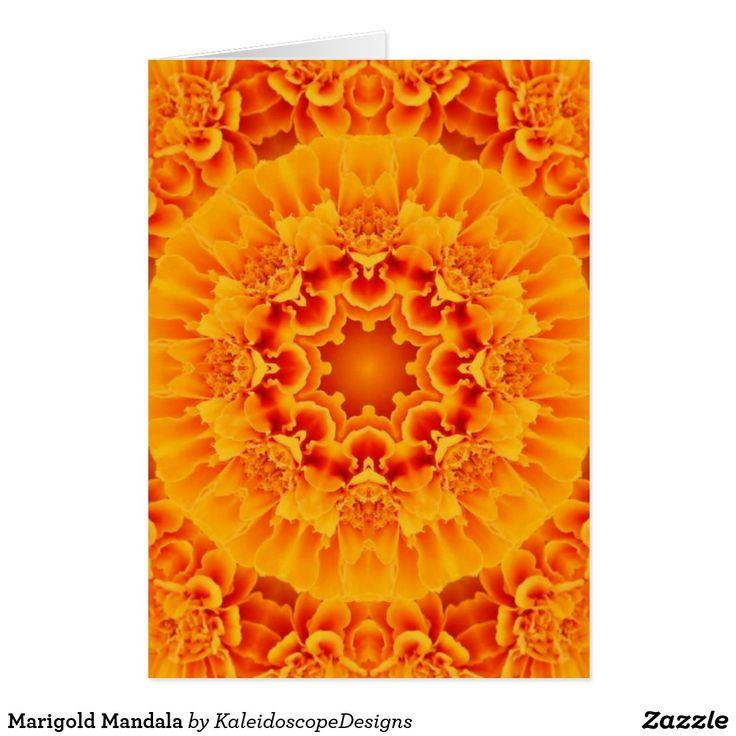 Marigold Mandala Card (sold - Colorado) Thank you!