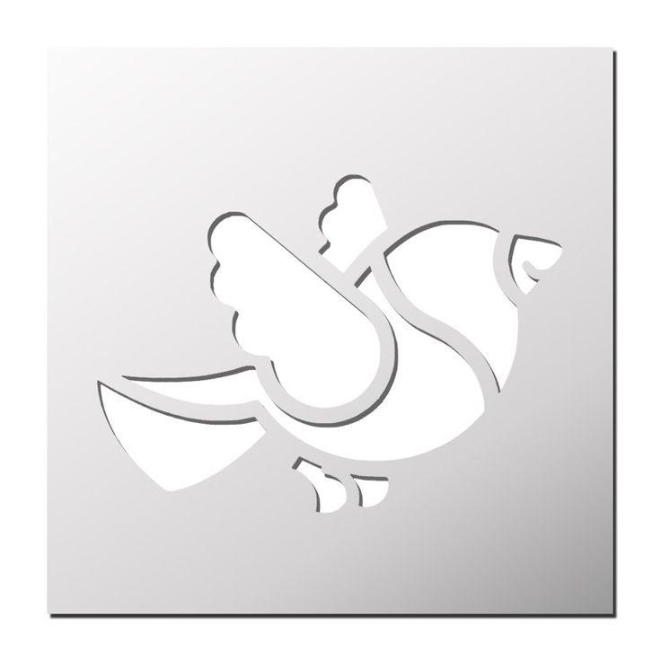 Pochoir oiseau pochoirs pinterest pochoir oiseaux for Pochoir oiseau