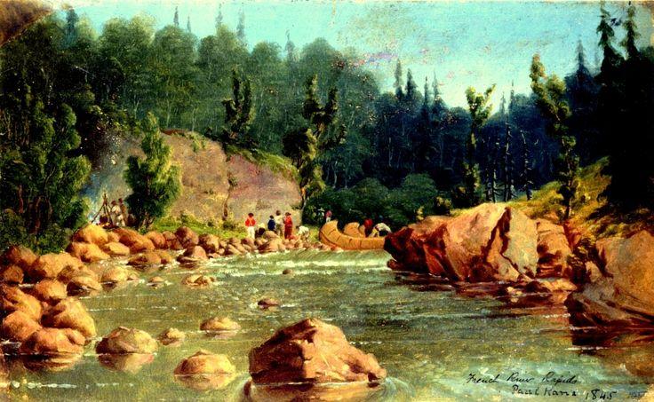 Le Rapide del French River. E' un fiume che esce dal Lake Nipissing per gettarsi nella Georgian Bay, nell'Ontario.