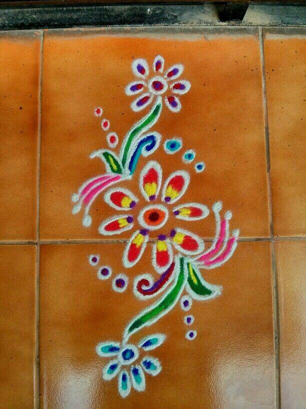 52 best door gadapa designs images on pinterest doors for Door rangoli design images