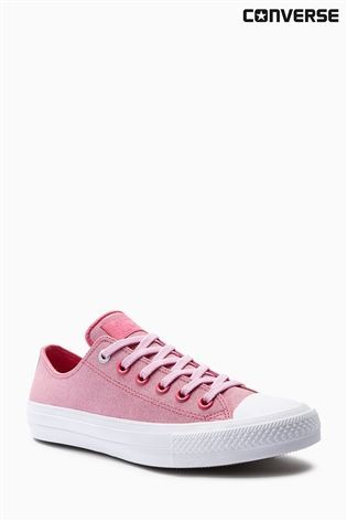 Buy Converse Pink Leather Chuck Taylor All Star ll from the Next UK online shop