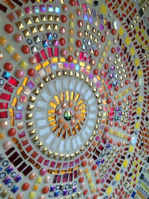 Mosaic  glass beads mandala