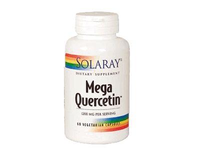Mega Quercetin Solaray: La quercetina pertenece a un grupo de pigmentos solubles en agua llamados bioflavonoides. Además la fórmula Mega Quercetin Solaray incluye bromelaina (enzima de la piña) que ayuda a potenciar su absorción.  Mega-Quercetin-Solaray-herbolario-online-nuriherbaliaLa quercetina es un bioflavonoide que encontramos en frutas y verduras como pigmento hidrosoluble de color rojo y azulado.