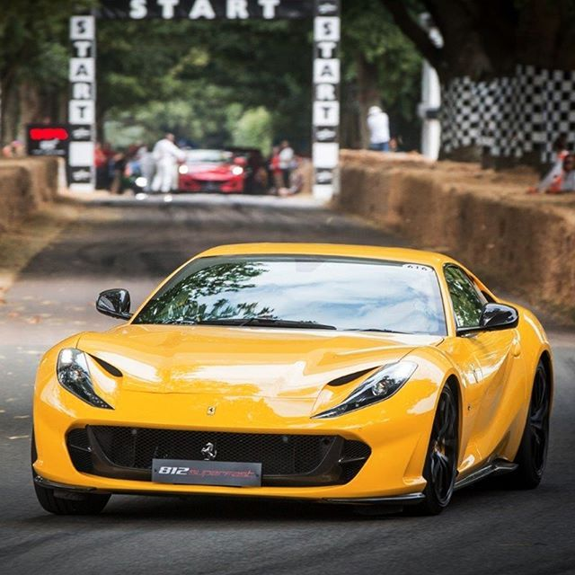All Eyes Were On This Yellow Ferrari812superfast Last Month At