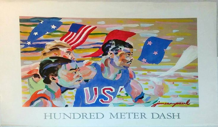 James Paul Brown Hundred Meter Dash 1983 Lithograph Poster Print https://www.etsy.com/listing/477409786/james-paul-brown-hundred-meter-dash-1983?utm_campaign=crowdfire&utm_content=crowdfire&utm_medium=social&utm_source=pinterest