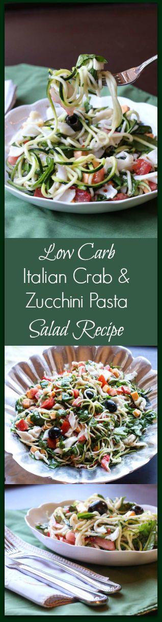 Italian Crab & Zucchini Pasta Salad