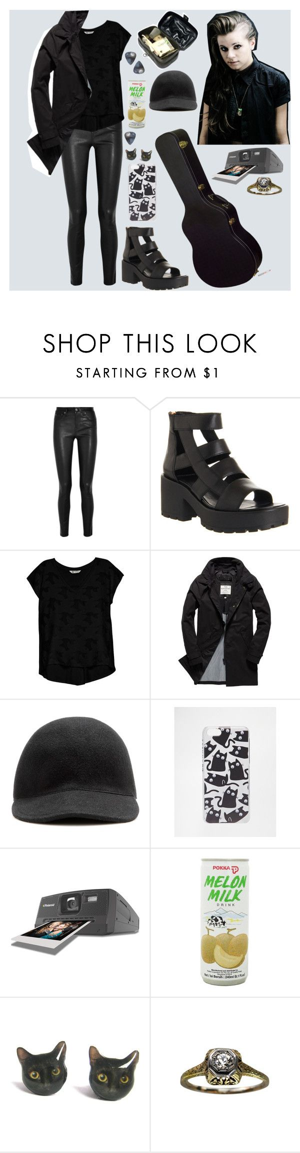 """stand tall"" by pvriscvlt ❤ liked on Polyvore featuring Helmut Lang, Vagabond, Bobeau, Superdry, STELLA McCARTNEY, Skinnydip, Polaroid, imagine, Heels and jacket"