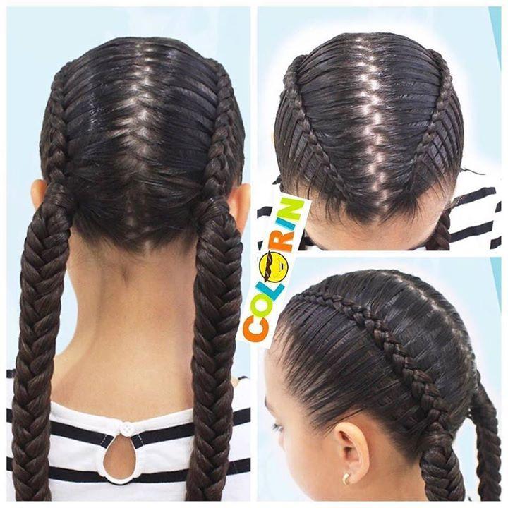 Sencilla y bella #trenza para el colegio Hoy la publicamos en nuestro canal de YouTube Colorin TV #braids #braid #trenzas #treccia #tresses #girls #girl #niñas #hair #hairstyle