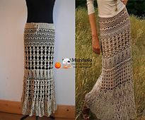 Ravelry: Evening steppe Maxi skirt pattern by Krinichka