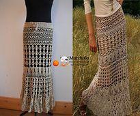 Ravelry: Evening steppe Maxi skirt pattern by Krinichka
