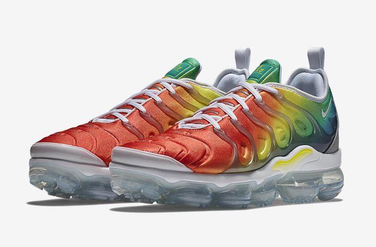 The Nike Air VaporMax Plus Rainbow (Style Code: 924453-103) fades ...