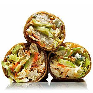Buffalo Chicken Salad Wraps