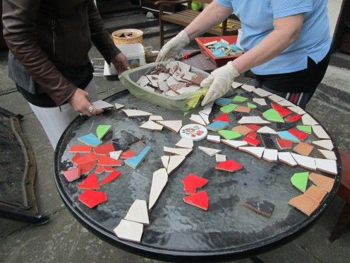 How To Design Mosaic Table Top With Ceramic Tiles How To