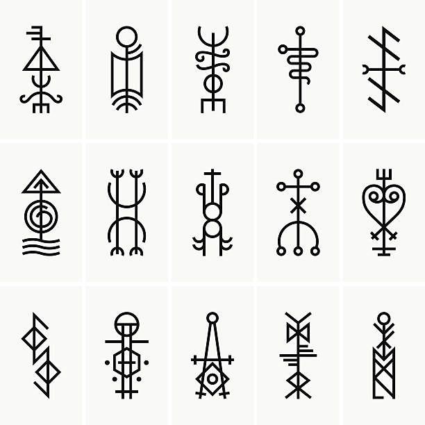 Galdrastafir, Isländische magische Symbole – Vektorgrafik