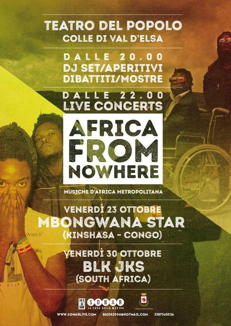 """AFRICA FROM NOWHERE """"Musiche d'Africa Metropolitana"""" #africa #afropunk #posterdesign"""