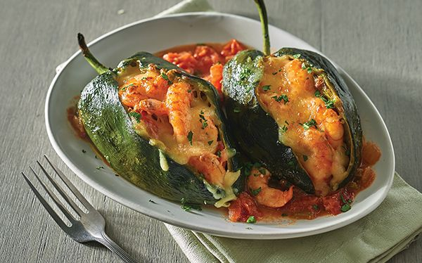 Receta de chile poblano con camarones | Una receta deliciosa, con sabores irresistibles ¡Cocina Vital! Platillos para todos los días.