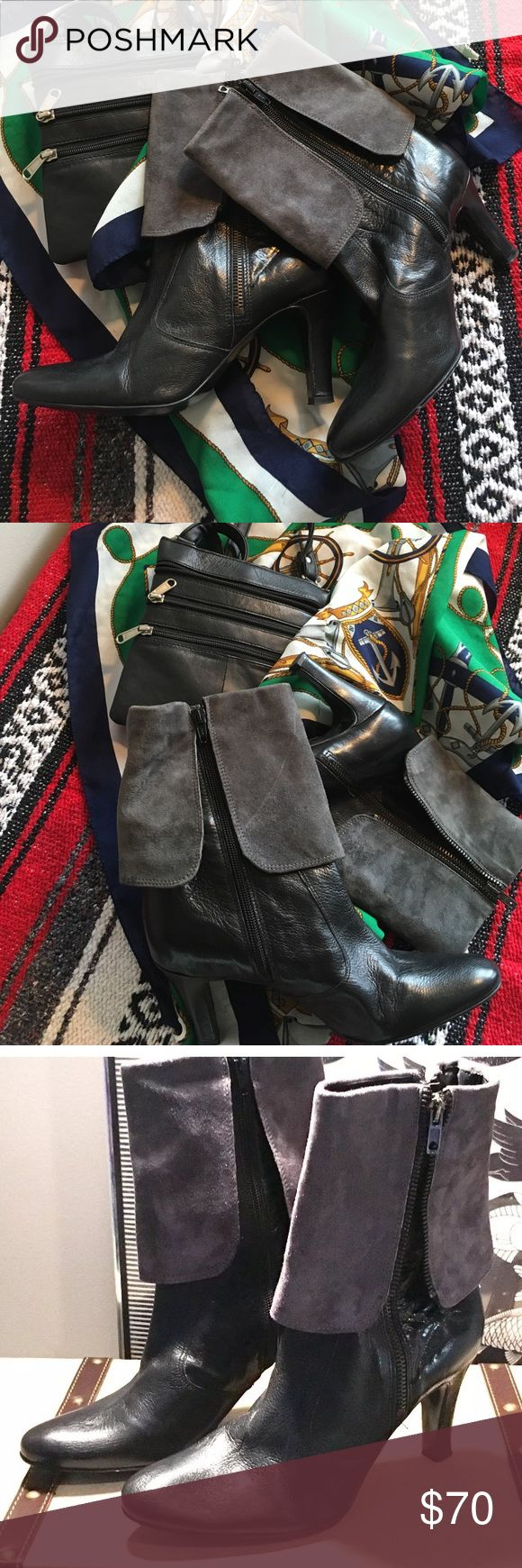 Otto Kern w9/eu39 leather and suede booties Beautiful, very elegant, European booties. Expensive and amazing quality. Worn twice. I bought them because I wanted to have them but... I wear 9,5-10. You know the rest of that 😭 story. Gently preloved. Make offers! Otto Kern Shoes Ankle Boots & Booties