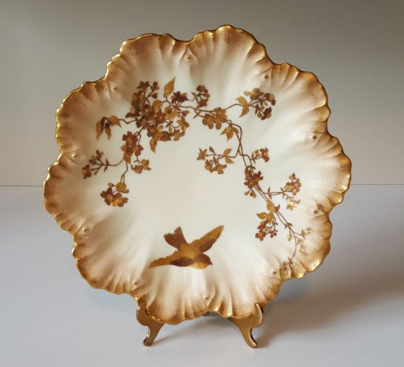 Limoges Hand Painted Plate by Alfred Lanternier by RetroEnvy21