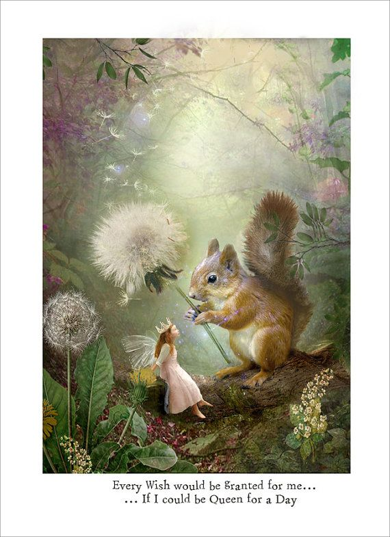 Queen for a Day .. Fairy Print Mounted or unmounted or two sizes of plaques or notebook to choose from-All signed By Charlotte Bird