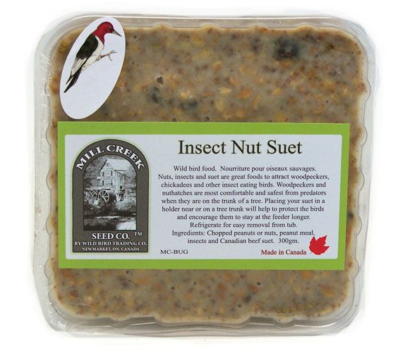 MC-BUG Mill Creek Seed Co. Insect & Nut Suet Cake