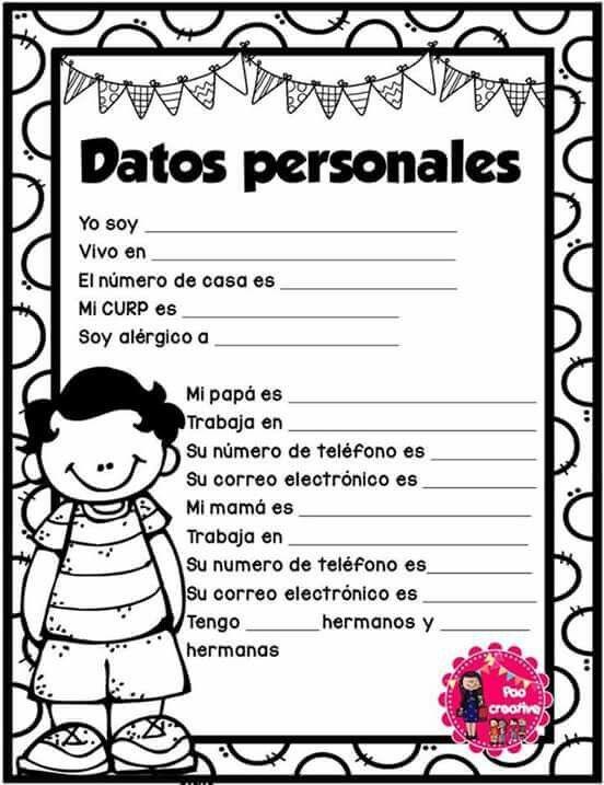 Datos personales niños