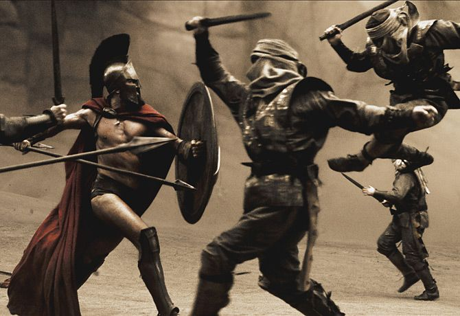Lead by King Leonides 300 Spartans vs. hundreds of thousands of Persians