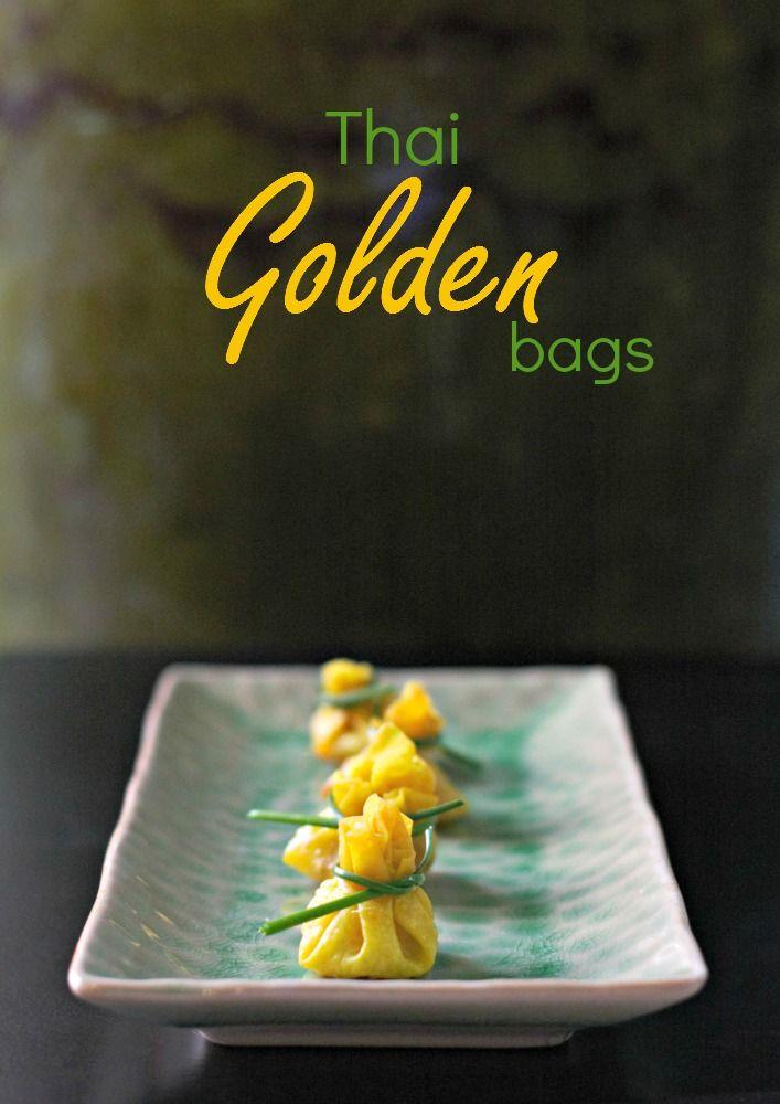 Thai Golden Bags con salsa dolce di peperoncino