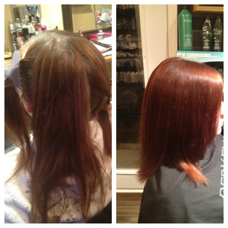Before And After With Redken Shades Eq Studio 5 7 2 3