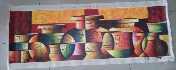 Comedor, obra del maestro Carlos Villegas. Precolombinos en abstracción.